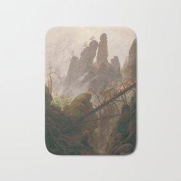 Caspar David Friedrich - Rocky Lanscape in the Elbe Sandstone Mountains Bath Mat
