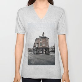 Book shop in Buxton Unisex V-Neck