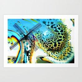 Windmills of La Mancha Art Print