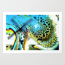 Windmills of La Mancha Art Print
