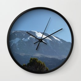 Mount Kilimanjaro Wall Clock