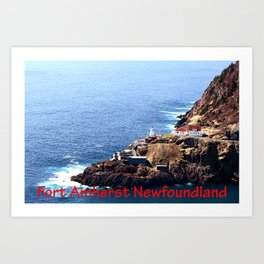 Canadian National Historical Site Fort Amherst and WWII bunkers Art Print