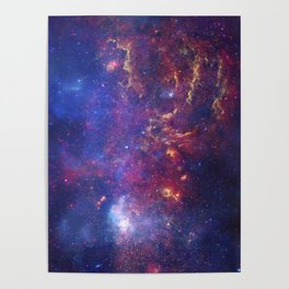 Center of the Milky Way Galaxy IV - Space Art Poster