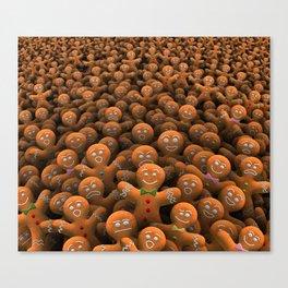 Gingerbread army Canvas Print