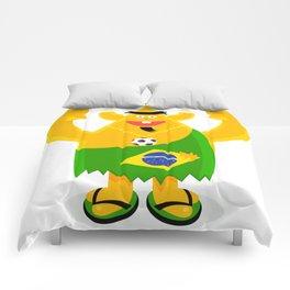 Brazilian samba mamba beach bum footy fan character Comforters