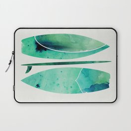 Watercolor Surfboards Laptop Sleeve