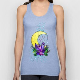 Mystical Crystals and Moon Unisex Tank Top