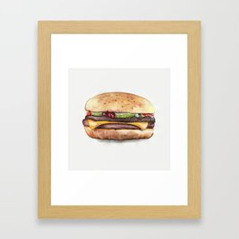 Color pencil Hamburger Framed Art Print
