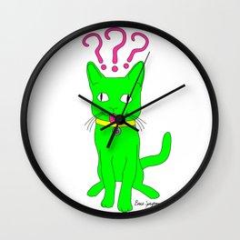"""Heckin Confused Derp Cat"", by Brock Springstead Wall Clock"