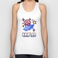 kirby Tank Tops featuring Kirby UFO by likelikes