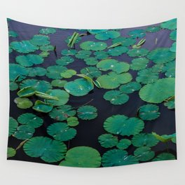 Temple Lilypond Wall Tapestry