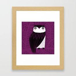 BLACK & WHITE OWL Framed Art Print