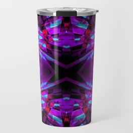 Purple kaleidoscope pattern Travel Mug