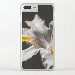 White Iris 4 Clear iPhone Case