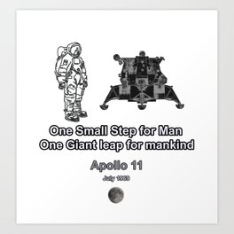 Space and the Moon Walk Art Print