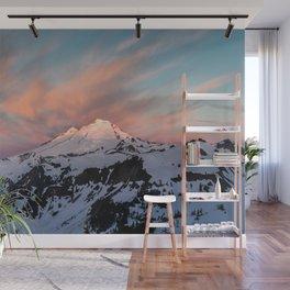 Mount Baker Mountain Adventure Sunset - Nature Photography Wall Mural