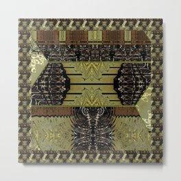 Bronze, Gold, Copper, & Black Trifold Tile Metal Print