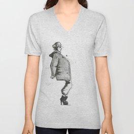 Fashionably lonely Unisex V-Neck