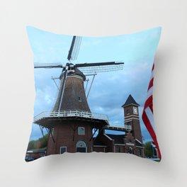 Little Chute Windmill Throw Pillow