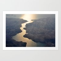 istanbul Art Prints featuring Istanbul  by Ali Inay