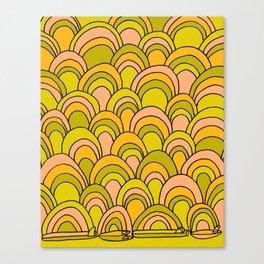 surfboard quiver 70s wallpaper dreams Canvas Print