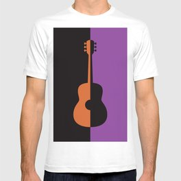 Acoustic Guitar Jazz Rock n Roll Classical Music Mid Century Modern Minimalist Abstract Geometrical T-shirt