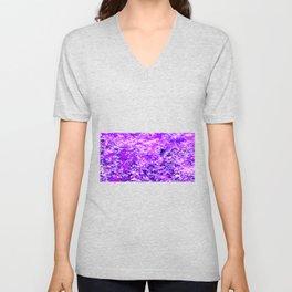 Purple Flames Background Unisex V-Neck