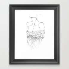 Material Change sketch Framed Art Print