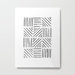Watercolor Line Pattern Metal Print
