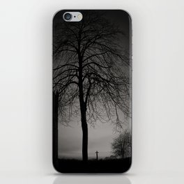 silhouette at Durham Cathedral iPhone Skin