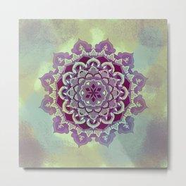 Hipnotic Mandala Design Metal Print