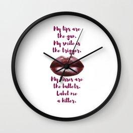 Killer Kisses Wall Clock