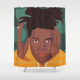 Basquiat Shower Curtain