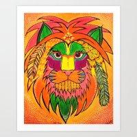 Neon Predator Art Print