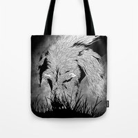 the hound Tote Bags featuring Hound by hardy mayes