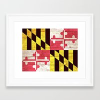 maryland Framed Art Prints featuring Maryland by C Liza B