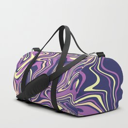 Blue Navy Azure Marbled Agate Duffle Bag