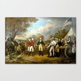 The Surrender of General Burgoyne Canvas Print