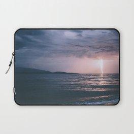 Lightning over the Strait of Georgia Laptop Sleeve