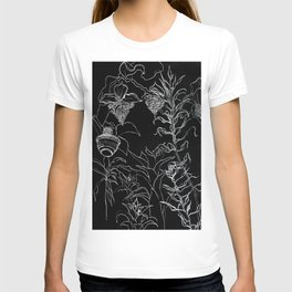 Tree leaves, nature, graphic art T-shirt