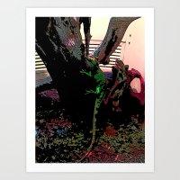 Rainbow Reptile Art Print