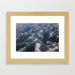 Mountains From Above Framed Art Print