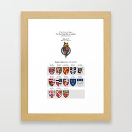 KING EDWARD VI - Roll of arms of the Knights of the Garter installed during his reign Framed Art Print