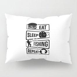 Eat Sleep Fishing Repeat - Fishing Fisherman Pillow Sham