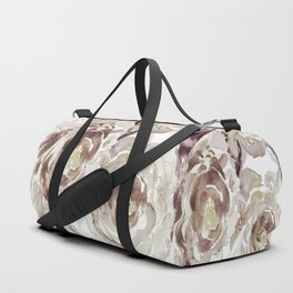 Earthy Painterly Floral Abstract Duffle Bag