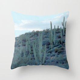 evening cactus Throw Pillow