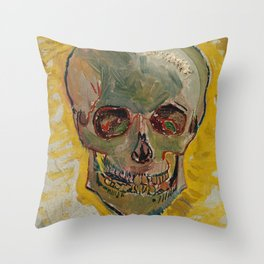 Vincent Van Gogh Skull Painting Throw Pillow