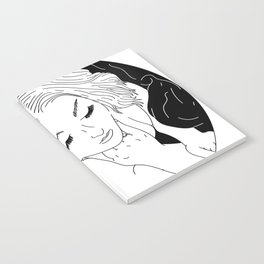 Girl in Circle with Sheet Notebook