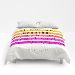 Show Up Motivational Quote Comforters