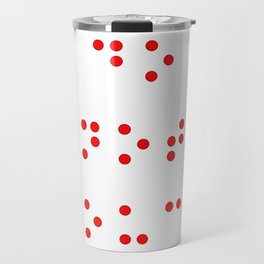 Do Not Touch in Braille in Red Travel Mug